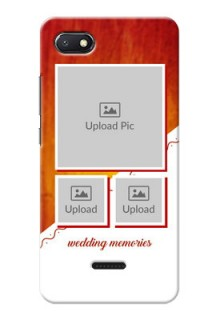 Redmi 6A Personalised Phone Cases: Wedding Memories Design