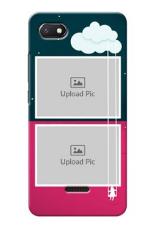 Redmi 6A custom phone covers: Cute Girl with Cloud Design