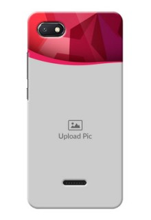 Redmi 6A custom mobile back covers: Red Abstract Design