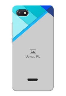Redmi 6A Phone Cases Online: Blue Abstract Cover Design