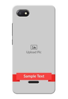 Redmi 6A Personalised mobile covers: Simple Red Color Design