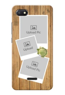 Redmi 6A Custom Mobile Phone Covers: Wooden Texture Design