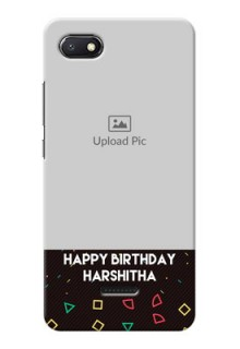 Redmi 6A custom mobile cases with confetti birthday design