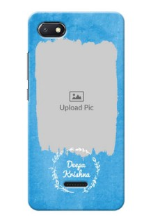Redmi 6A custom mobile cases: Blue Color Vintage Design