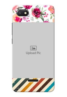 Redmi 6A Personalized Mobile Cases: Watercolor Floral Design