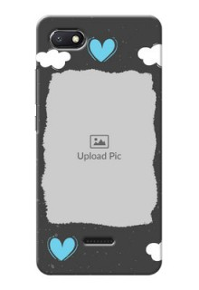 Redmi 6A Mobile Back Covers: splashes with love doodles Design