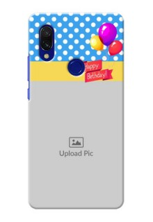 Redmi 7 custom mobile back covers: Happy Birthday Design