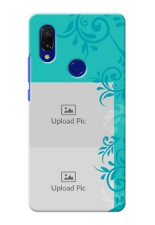 Redmi 7 Mobile Cases with Photo and Green Floral Design