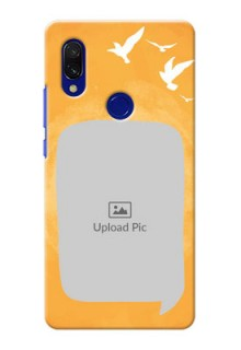 Redmi 7 Phone Covers: Water Color Design with Bird Icons
