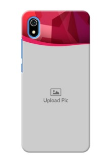 Redmi 7A custom mobile back covers: Red Abstract Design