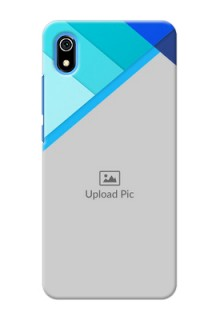 Redmi 7A Phone Cases Online: Blue Abstract Cover Design