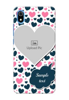 Redmi 7A Mobile Covers Online: Pink & Blue Heart Design