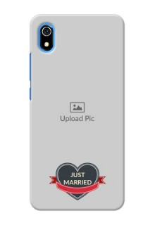 Redmi 7A mobile back covers online: Just Married Couple Design