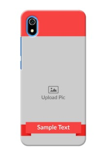 Redmi 7A Personalised mobile covers: Simple Red Color Design