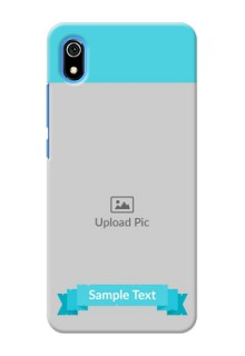 Redmi 7A Personalized Mobile Covers: Simple Blue Color Design