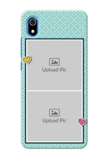 Redmi 7A Custom Phone Cases: 2 Image Holder with Pattern Design