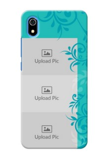 Redmi 7A Mobile Cases with Photo and Green Floral Design