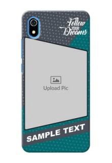 Redmi 7A Back Covers: Background Pattern Design with Quote