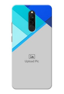 Redmi 8 Phone Cases Online: Blue Abstract Cover Design