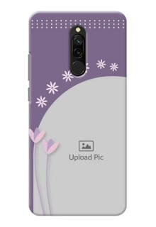 Redmi 8 Phone covers for girls: lavender flowers design