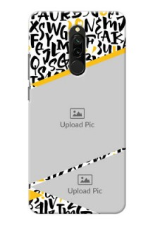 Redmi 8 Phone Back Covers: Letters Pattern Design