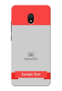 Redmi 8A Personalised mobile covers: Simple Red Color Design