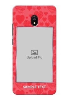 Redmi 8A Mobile Back Covers: with Red Heart Symbols Design