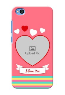 Redmi Go Personalised mobile covers: Love Doodle Design