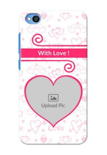 Redmi Go Personalized Phone Cases: Heart Shape Love Design