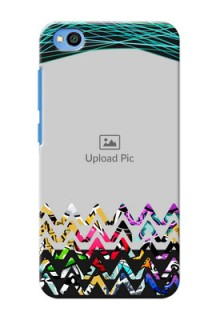 Redmi Go personalized phone covers: Neon Abstract Design