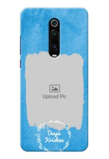 Redmi K20 Pro custom mobile cases: Blue Color Vintage Design