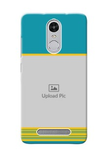 Xiaomi Redmi Note 3 Pro Yellow And Blue Pattern Mobile Case Design