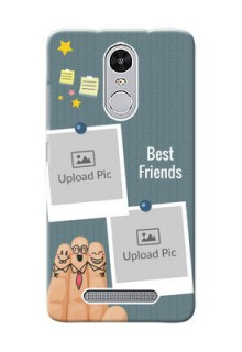 Xiaomi Redmi Note 3 Pro 3 image holder with sticky frames and friendship day wishes Design