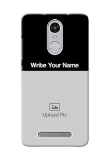 Xiaomi Redmi Note 3 Pro Photo with Name on Phone Case