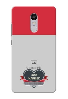 Xiaomi Redmi Note 3 Just Married Mobile Cover Design