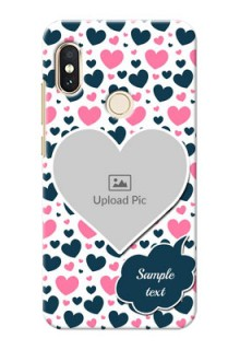 Redmi Note 5 Pro Mobile Covers Online: Pink & Blue Heart Design