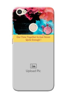 Xiaomi Redmi Note 5A best friends quote with acrylic painting Design