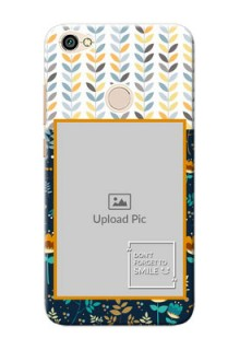 Xiaomi Redmi Note 5A seamless and floral pattern design with smile quote Design
