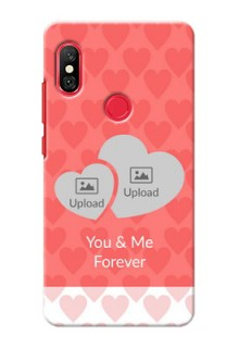 Redmi Note 6 Pro personalized phone covers: Couple Pic Upload Design