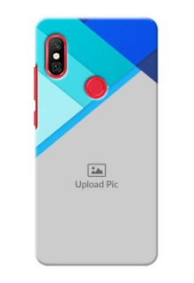 Redmi Note 6 Pro Phone Cases Online: Blue Abstract Cover Design