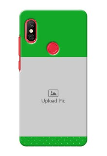 Redmi Note 6 Pro Personalised mobile covers: Green Pattern Design