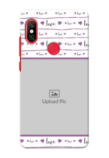 Redmi Note 6 Pro Mobile Back Covers: Couples Heart Design