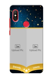 Redmi Note 6 Pro Mobile Covers Online: Galaxy Stars Backdrop Design