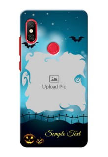 Redmi Note 6 Pro Personalised Phone Cases: Halloween frame design