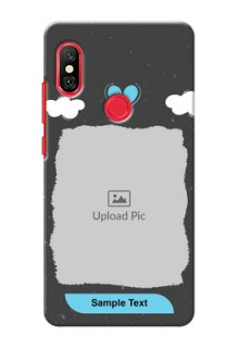 Redmi Note 6 Pro Mobile Back Covers: splashes with love doodles Design