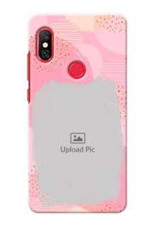 Redmi Note 6 Pro Phone Covers for Girls: Gold Glitter Splash Design