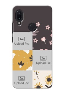 Redmi Note 7 Pro phone cases online: 3 Images with Floral Design
