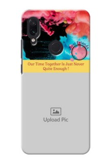 Redmi Note 7 Pro Mobile Cases: Quote with Acrylic Painting Design