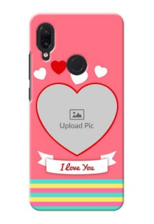 Redmi Note 7 Personalised mobile covers: Love Doodle Design