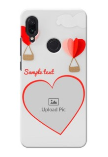 Redmi Note 7 Phone Covers: Parachute Love Design